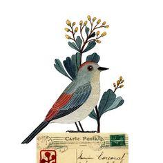 Bird No21 by Geninne on Etsy, via Etsy.