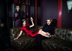 Stars of The CW's Reign Adelaide Kane, Toby Rego and Torrance Combs in the February 2014 issue of CBS Watch Magazine