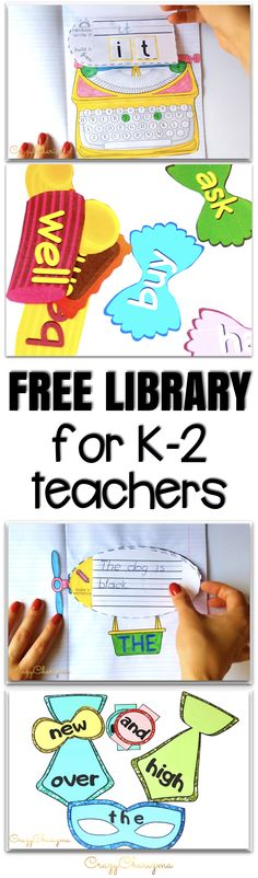 Are you a primary teacher? Looking for ways to spice up your lessons? Join CrazyCharizma library! Get tons of free ideas on teaching sight words, phonics, writing prompts and much more...