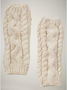 Cable knit leg warmers - I used to knit and would like to start again by making these. I'd wear them everywhere!!