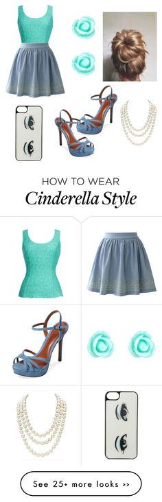 """CINDERELLA"" by ferndt on Polyvore featuring Thalia Sodi, Chicwish, Schutz, Kate Spade, Monsoon and Chanel"