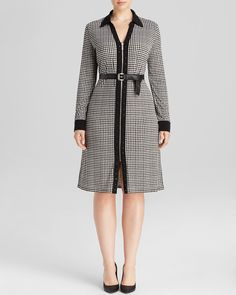MICHAEL Michael Kors Plus Stud Trim Plus Size Shirt Dress
