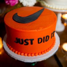 Nike Groom's Cake. Cute!!!!