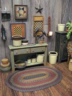 ♡ ♡ Dollhouse Miniature Crock Pot Country por MiniatureCabinDecor