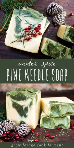 Winter Spice Pine Soap Recipe Learn how to make natural Winter Spice Pine Soap to moisturize dry winter skin. With an amazing sweet-spicy evergreen scent it will be your favorite bar!