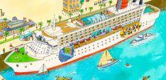 Cruiseschip aan wal