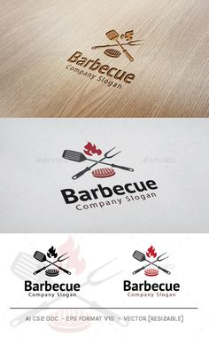 Barbecue Logo  #restaurant #brand #steak • Click here to download ! http://graphicriver.net/item/barbecue-logo/11584057?ref=pxcr