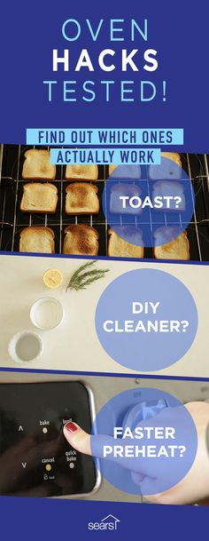 3 cooking hacks for the oven you need to try! Find out if these hacks to skip preheating, clean the inside of your oven and identify hot spots really work. We're putting three of the most common oven hacks to the test. Visit the Sears Home Services blog to see which of our oven hacks actually worked!