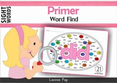 Sight Words Word Find (Primer). Fun literacy center to use with bingo daubers or highlighters. Or laminate and use with dry-erase markers.