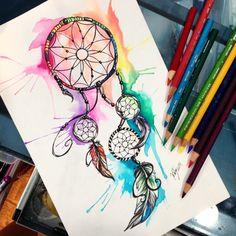 Watercolor #tattoo design commission. #art #dreamcatcher #Artofdrawing #artspotlight #sketch_daily #social_arts #art_design_gallery #arts_help #art_spotlight #help_4_artists #artist_4_feature #imaginationarts #artists_community #artcollective #_art_help_ #daily_art #triplesartists  #mysterious_arts