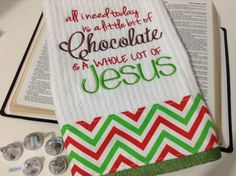 PLEASE RE-PIN IF YOU LOVE THIS, HELP ME GET THE WORD OUT. Thanks in advance!!! Christmas Hand Towel  or Kitchen Towel, $12.00