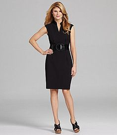 Antonio Melani Nasira Belted VNeck Dress #Dillards