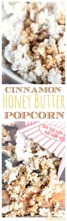 Cinnamon Honey Butter Popcorn Recipe - perfect family movie night treat :-D