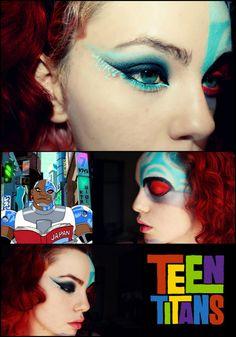 Teen! Titans! Cyborg! http://www.makeupbee.com/look.php?look_id=55313