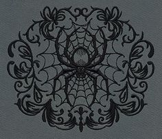 Gothic Gala - Spiderweb - Thread List | Urban Threads: Unique and Awesome Embroidery Designs