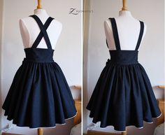 Lolita Denim High-waisted Skirt