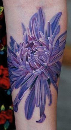 purple flower by Phil Garcia | tattoo artist – Port Hueneme Ca, USA