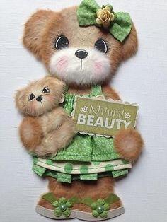 Natural Boutique Girl Tear Bear Scrapbook Paper Piecing ELITE4U 3PAPERWISHES   eBay