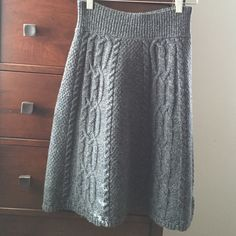 Anthropologie blue/green sweater skirt Blue/green wool skirt. Hand wash. Worn once. Excellent condition. Anthropologie Skirts A-Line or Full