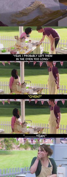 """When Mat put his Tennis Bake decoration into the oven instead of the freezer FOR NO REASON. 