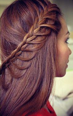 braid, half up,