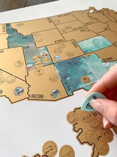 National Park Scratch Off Map - Gold - United States of America Travel Map (USA)- Dreamer - Wedding Gift - Travel Gift Perfect for the outdoor adventurer. Scratch off the national parks and states that youve visited. inch poster Includes 60 US Nation