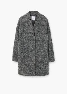 Bouclé-mantel - Mäntel für Damen | MANGO