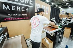 We were live screen printing at Flatstock, giving you an awesome tote to take home all your prints.