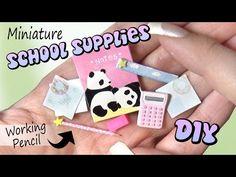 Easy Miniature School Supplies // DIY Dolls/Dollhouse - YouTube