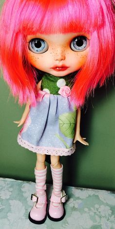 For Adoption- Custom Blythe Doll, OOAK named Joliee,  by EmmyB.lythe