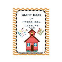 Preschool Pack 1, #Homeschool, #Preschool, #Lesson Plans