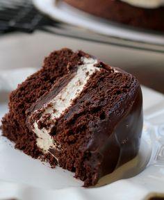 Salted caramel ding dong cake.