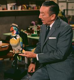 Walt Disney and the original Barker Bird 1964 by Miehana, via Flickr
