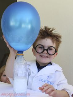 The cutest little scientist ever! Great Science Fun for the kids!