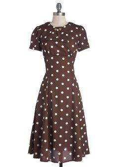 Believe It or Dot Dress, #ModCloth