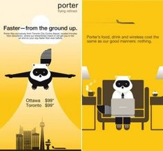 Porter airlines provides a superior brand experience and best customer service in the airline industry Clever Advertising, Marketing And Advertising, Porter Airlines, Ottawa, Branding, Vintage Airline, Airplanes, Aviation, Dior