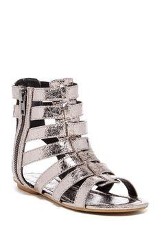 Debbie Metallic Gladiator Sandal by Michael Antonio on @nordstrom_rack