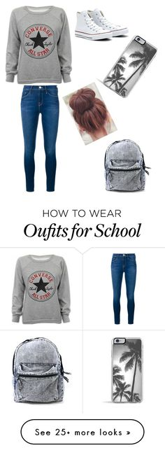 """Comfy Outfit For School."" by krystho on Polyvore featuring Converse, Frame Denim, Zero Gravity, women's clothing, women, female, woman, misses and juniors"