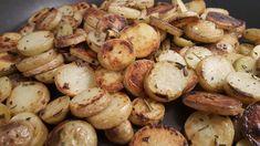 Rozmaringos serpenyős krumpli Pretzel Bites, Potatoes, Bread, Vegetables, Food, Potato, Veggies, Essen, Breads