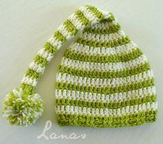 Lanas de Ana: Long-tail baby hats