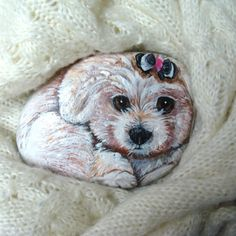 Painted Rock of your pet, custom order for Kenneth