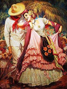 Pinturas de Jesus Helguera! Jesus Enrique Emilio de la Helguera Espinoza (28 de maio de 1910, Chihuahua, México – 5 de dezembro de 1971, Córdoba, Vera Cruz, México) Pintor e ilustrador mexicano, fi…