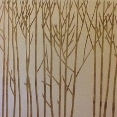 Simple trees- easy to paint onto white background paper, then put all around the walls!