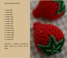 Amigurumi Strawberry - Tutorial ❥ 4U hilariafina  http://www.pinterest.com/hilariafina/