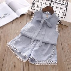 Humor Bear Baby Girl Clothes 2019 Summer New Girls Clothing Sets Kids Clothes Baby Bay Clothes Toddler Girl Coat + Pants Baby Girl Pants, Baby Girl Dresses, Baby Dress, Baby Girls, Toddler Fashion, Baby Girl Fashion, Kids Fashion, Style Fashion, Girls Summer Outfits