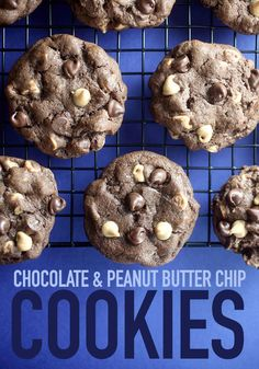 Chocolate Peanut Butter Chip Cookies from /bybakerella/