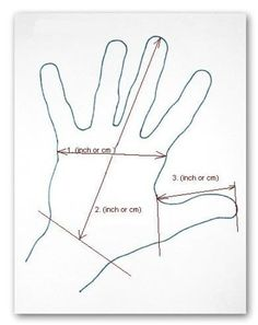 Measurements needed for making felt mittens