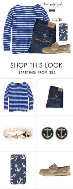 """""""A is for Anchors"""" by sc-prep-girl ❤ liked on Polyvore featuring J.Crew, Abercrombie & Fitch and Sperry Top-Sider"""