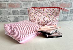 Candy Flowers, Red Candy, Nail Treatment, Pencil Cases, Makeup Pouch, Candy Stripes, Sewing Kit, Pouches, Gingham