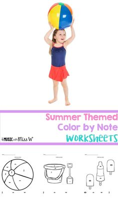 Color by note coloring pages featuring summer items! I sent these home with my students for the summer but they are also great for sub plans, fun homework, or featuring student work on a bulletin board! My elementary music students absolutely love these p
